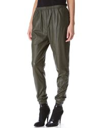 3.1 Phillip Lim Leather Track Pants - Lyst