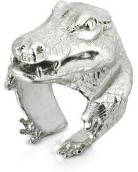 Bernard Delettrez - Silver Crocodile Ring - Lyst
