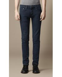 Burberry Shoreditch Midnight Blue Skinny Fit Jeans - Lyst