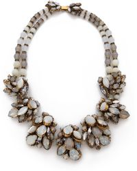 Erickson Beamon - Whiter Shade Of Pale Crystal Necklace - Lyst