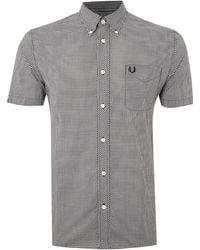 Fred Perry Short Sleeve Gingham Shirt - Lyst