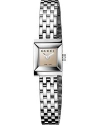 Gucci Gframe Collection Stainless Steel Watch Brown - Lyst