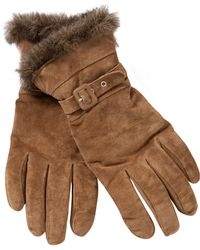 John Lewis - Suede Faux Fur Trim Gloves - Lyst