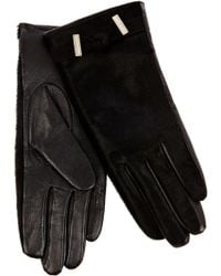 Karen Millen - Pony and Leather Gloves - Lyst