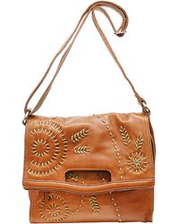 Lucky Brand - Savannah Embroidered Leather Shoulder Bag - Lyst