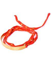 Mathias Chaize - Embroidered Fabric Wraparound Bracelet - Lyst