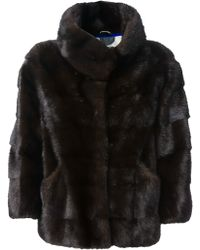 Simonetta Ravizza Ribbed Fur Jacket - Lyst