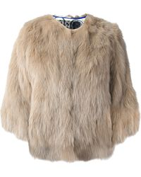 Simonetta Ravizza Cropped Fur Jacket - Lyst