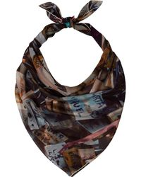 Temps Des Reves - Beige Love Locks Silk Scarf - Lyst