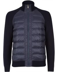 Zegna Sport - Quilted Front Wool Cardigan - Lyst