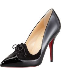 Christian Louboutin Queue De Pie Patentsuede Red Sole Pump - Lyst