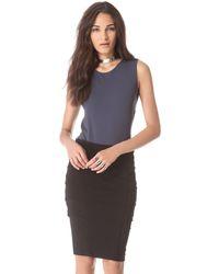 Donna Karan - Sleeveless Illusion Back Bodysuit - Lyst