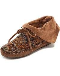 House of Harlow 1960 - Mallory Moccasin Booties - Lyst
