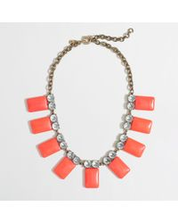 J.Crew Factory Neon Tile Collar Necklace - Lyst