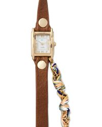 La Mer Collections - Primary Friendship Bracelet Watch Browngold - Lyst