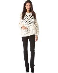 Maison Ullens - Crochet Knit Sweater - Lyst