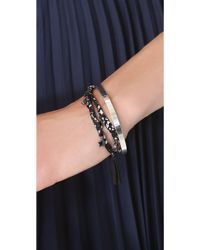 Marc By Marc Jacobs - Braided Charm Double Wrap Bracelet - Lyst