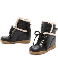 Marc By Marc Jacobs Sherpa Lined Wedge Sneakers - Lyst