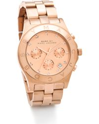 Marc By Marc Jacobs Large Blade Chrono Watch - Rose Gold - Lyst