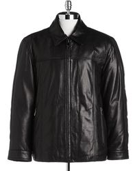 Marc New York Zip-front Leather Jacket - Lyst