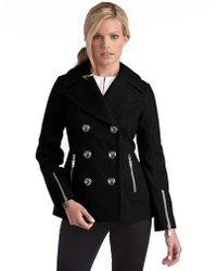 Miss Sixty Wool Pea Coat - Lyst