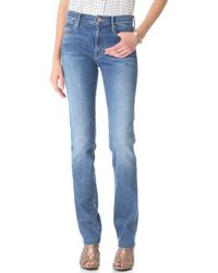 Mother High Rise Rascal Jeans - Lyst