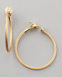 Paul Morelli - 18K Yellow Gold Diamond Cluster Hoop Earrings - Lyst