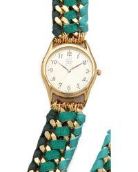 Sara Designs - Asymmetrical Woven Wrap Watch - Lyst