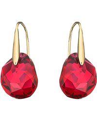 Swarovski - Galet Bordeaux Crystal Drop Earrings - Lyst