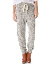 Thakoon Addition - Marled Knit Sweatpants - Lyst