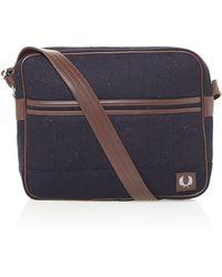 Flecked Wool Shoulder Bag 116