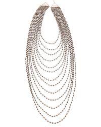 Iam By Ileana Makri - Multi Strand Pyrite Necklace - Lyst