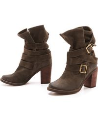 Jeffrey campbell France Wrap Strap Boots in Gray   Lyst