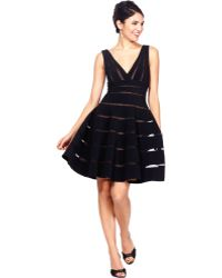 JS Collections Sleeveless Striped A-Line Dress - Lyst