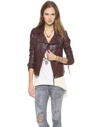 June - Classic Leather Jacket - Lyst