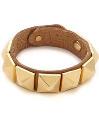 Linea Pelle | Grayson Wide Pyramid Bracelet | Lyst