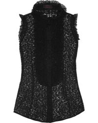 L'Wren Scott Ruffled Lace and Tulle Blouse - Lyst
