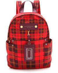 Marc By Marc Jacobs - Preppy Nylon Aimee Plaid Backpack - Lyst