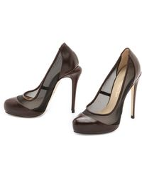 Max Kibardin Leather Pumps with Net - Lyst