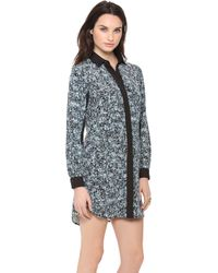Sea Combo Shirt Dress - Lyst