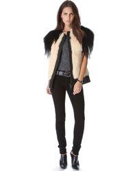 Skaist Taylor Mixed Fur Vest white - Lyst
