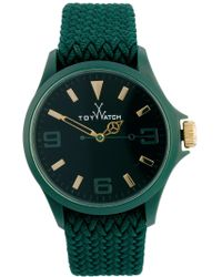Toy Watch | Toy Green Fabric Strap Watch | Lyst