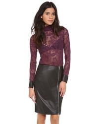 Yigal Azrouël - Stretch Lace Top - Lyst