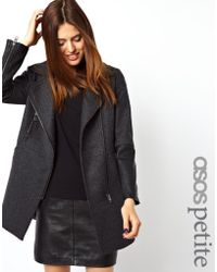 Asos Exclusive Biker Coat - Lyst
