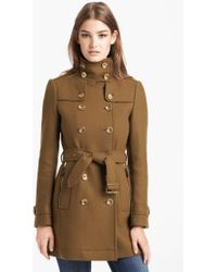 Burberry Brit Daylesmoore Wool Blend Trench Coat - Lyst