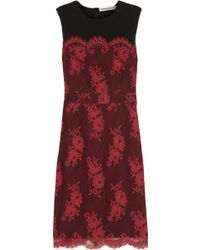 Clements Ribeiro - Frida Lace-Covered Crepe Dress - Lyst