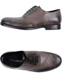 Dolce & Gabbana Laced Shoes - Lyst
