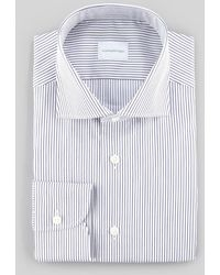 Ermenegildo Zegna Pencil Striped Dress Shirt Whitenavy - Lyst