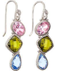 Judith Ripka - Threestone Prism Earrings - Lyst