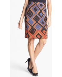 Nic + Zoe Falling Diamonds Wink Skirt - Lyst
